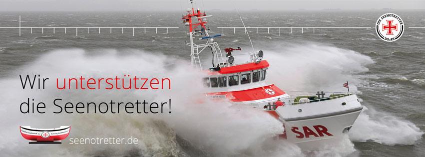 Auch 2021 unterstützen wir die Seenotretter mit einer Spende.