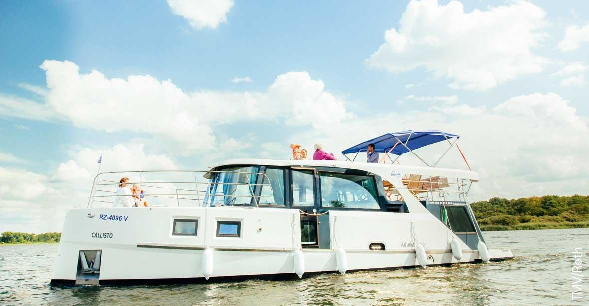 Hausboot auf der Müritz mieten: Aquino 1190