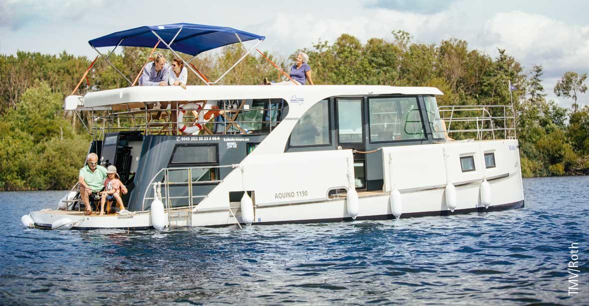Hausboot auf der Müritz mieten: Aquino