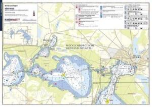 Gewässerkarten: Wassersportkarten DIN A3, laminiert, wetterfest
