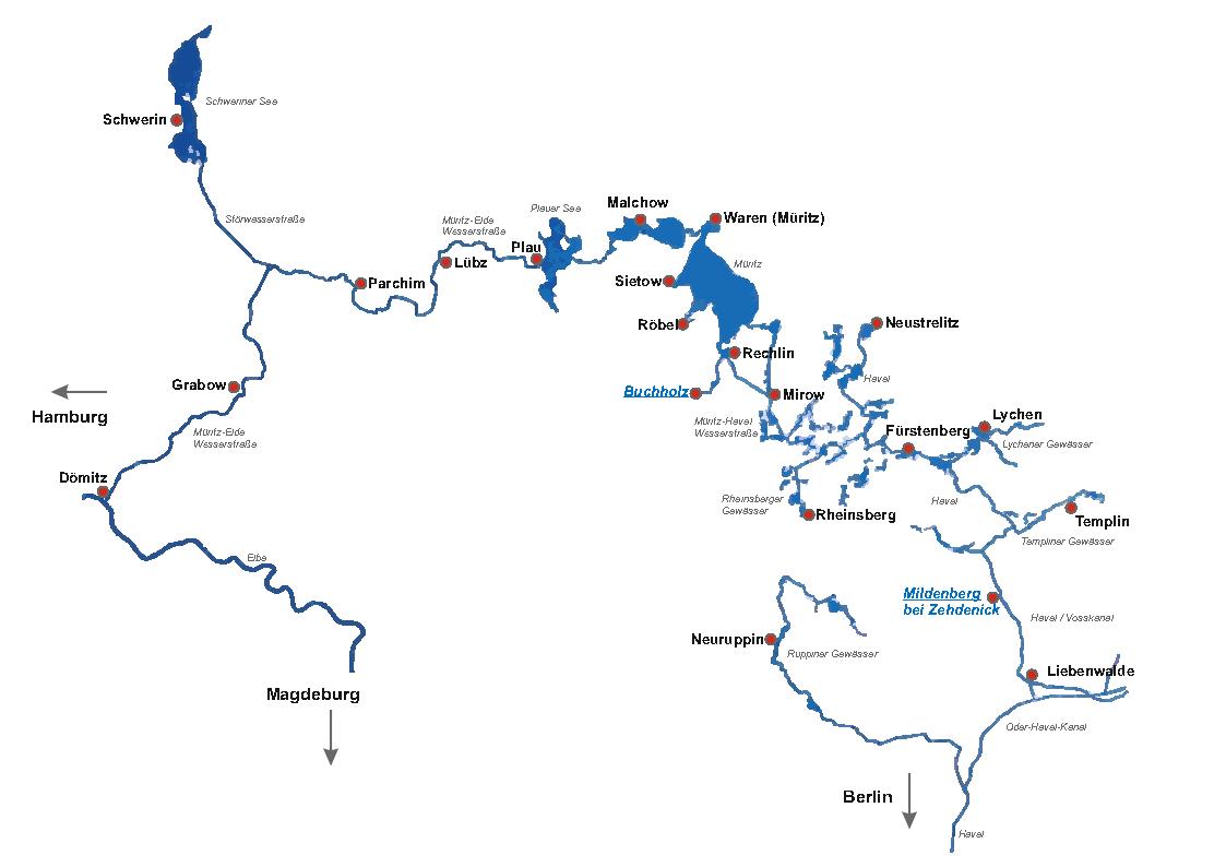 Gewässer Übersicht Reviere Yachtcharter Römer