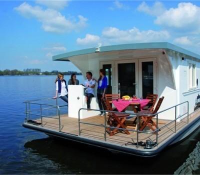 Riverlodge Hausboot Heike Aussenansicht