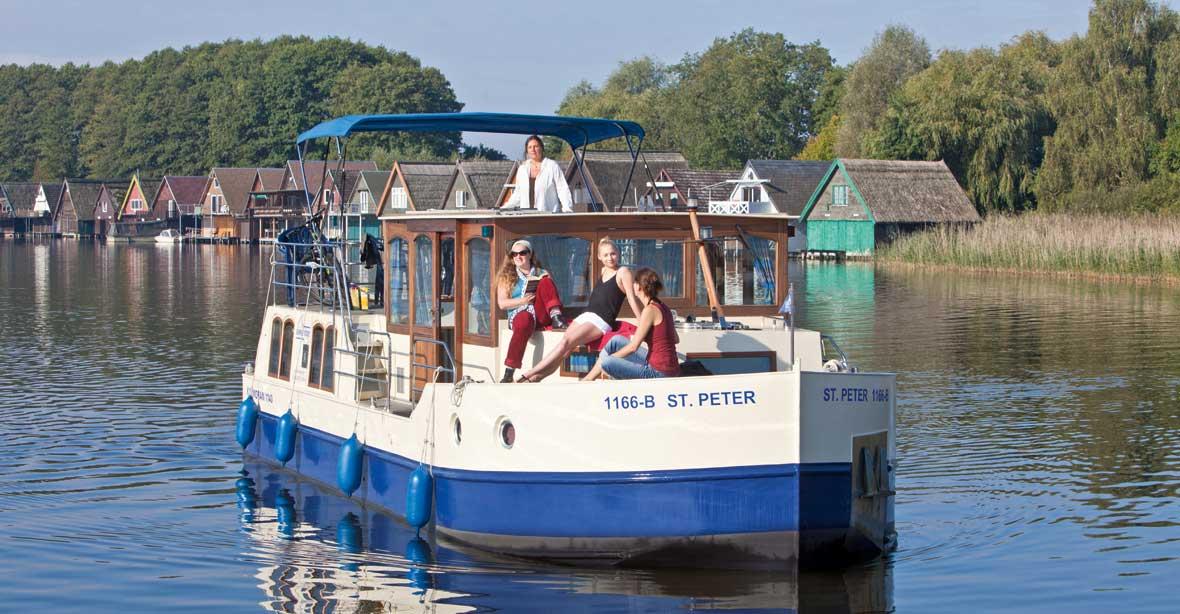 Hausbootferien an der Seenplatte: Primus Kormoran 940, 1140, 1280 + 1500