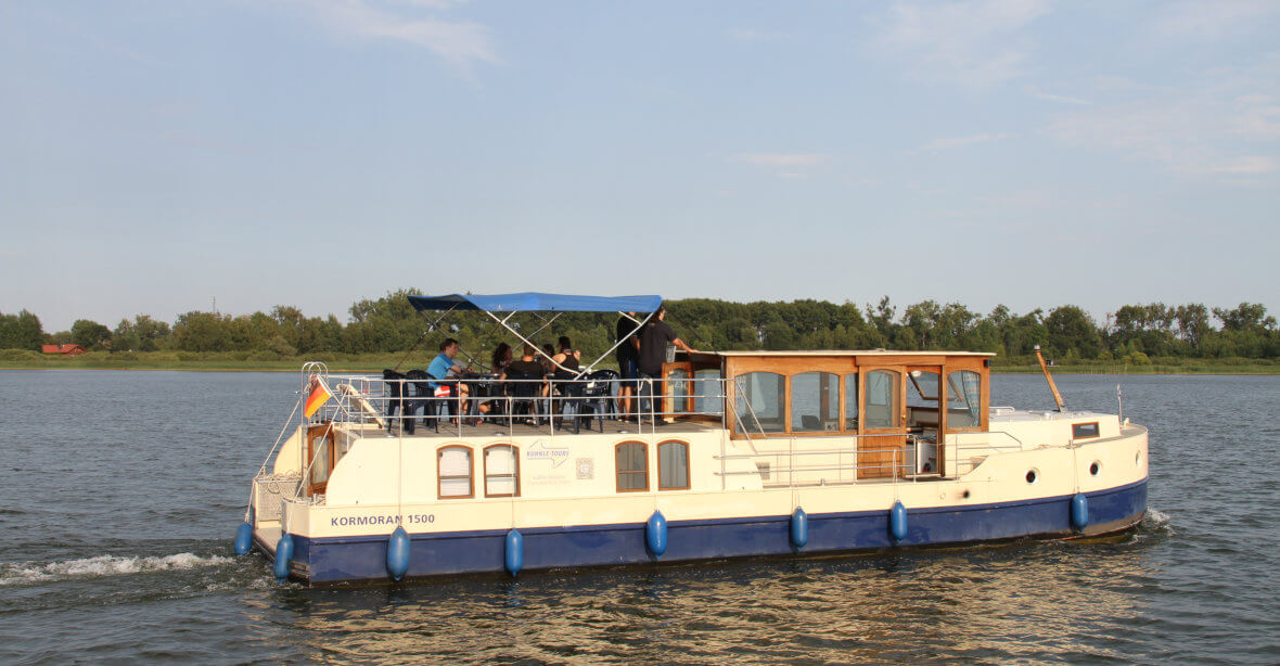 Hausbootferien an der Seenplatte: Primus Kormoran 940, 1140, 1280 & 1500