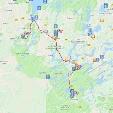 Kurztour von Buchholz nach Rheinsberg