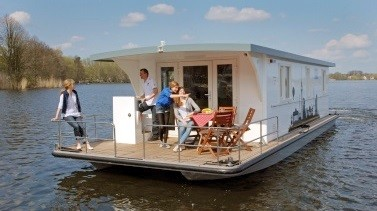 Hausboot auf der Müritz ohne Führerschein: Marleen K. - Riverlodge H2Home