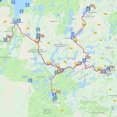 Nach Neustrelitz, Rheinsberg und Fürstenberg