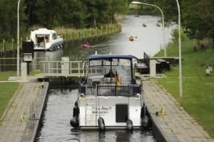 Schleuse Diemitz Bootsurlaub Richtung Berlin