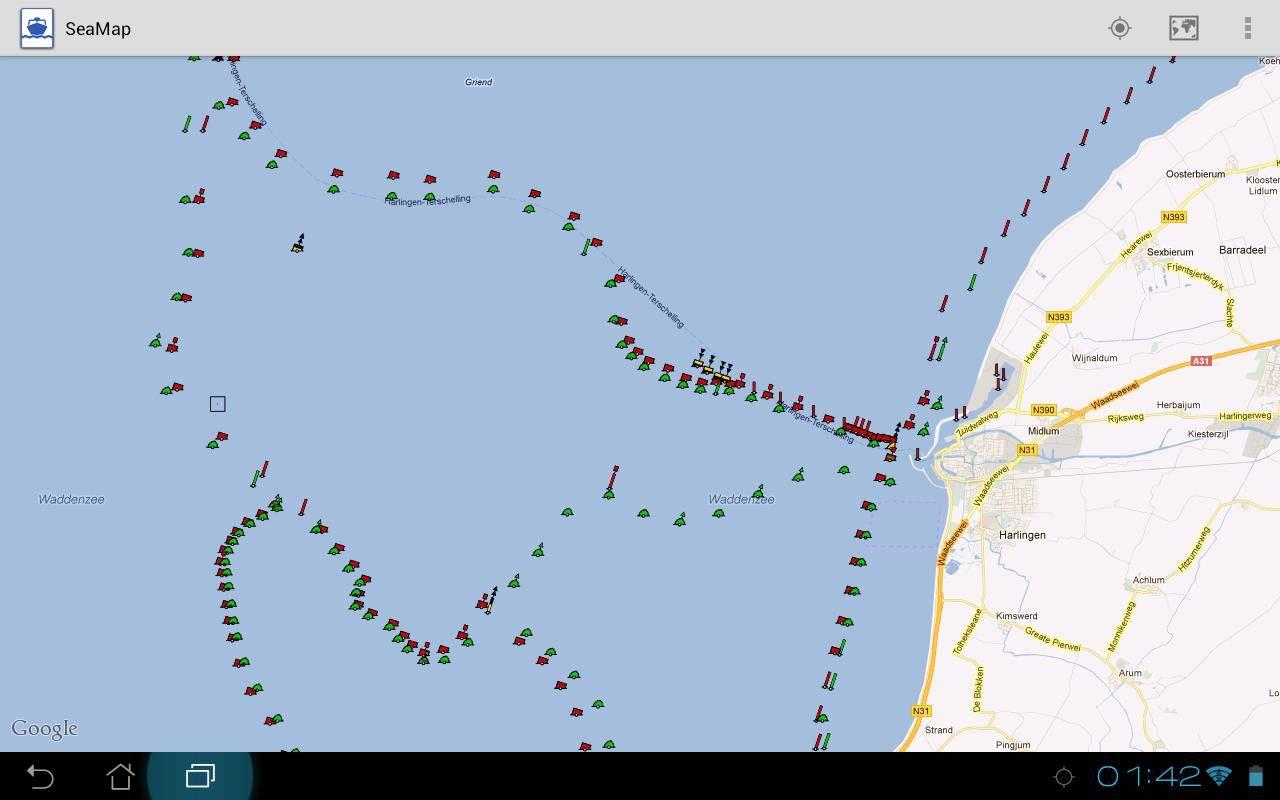 SeaMap Kartenausschnitt