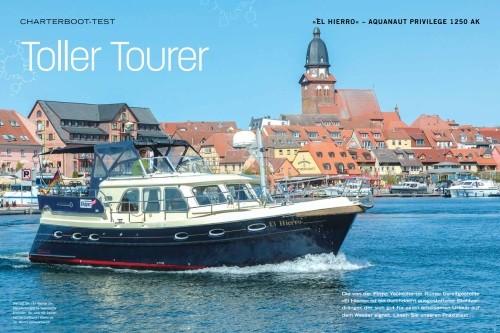 Die von der Firma Yachtcharter Römer bereitgestellte »El Hierro« ist ein durchdacht ausgestatteter Stahlverdränger, der sich gut für einen erholsamen Urlaub auf dem Wasser eignet.
